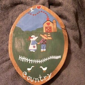 None Accents - I ❤ Country Wooden Sign (Charity Sale)